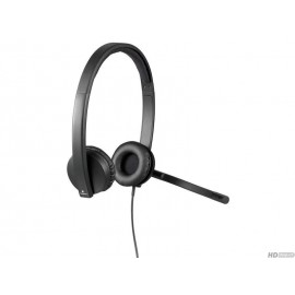 Logitech Écouteurs H570e USB Duo noir