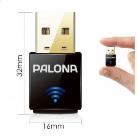 Palona Wireless USB Adapter 300 Mbps WPA2 WPA & legacy WEP pour Set Top Boxen
